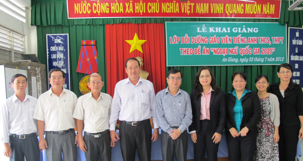 Opening Ceremony of the English Training Course for High and Secondary School Teachers of English in An Giang Province