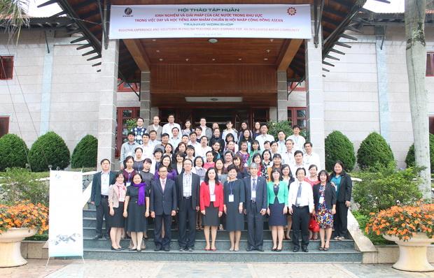 Hội thảo tập huấn cán bộ quản lý và giảng viên tiếng Anh các cơ sở giáo dục và đào tạo về kinh nghiệm và giải pháp của các nước trong khu vực trong việc dạy và học tiếng Anh chuẩn bị hội nhập cộng đồng ASEAN