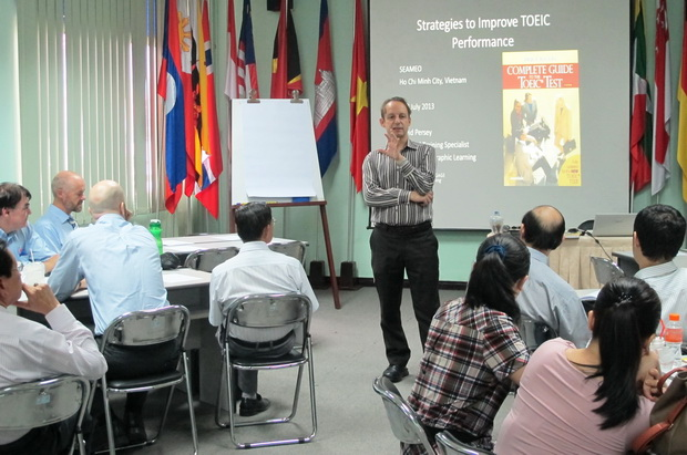 "Training Workshop on ""Teaching Strategies to Prepare for the TOEIC Exam"""