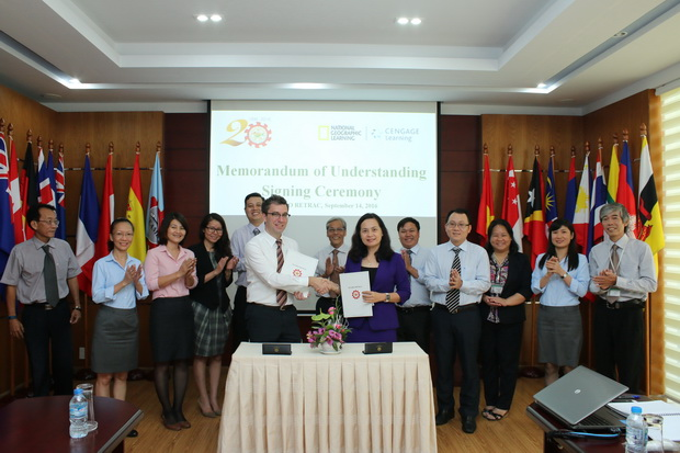MOU signing ceremony with National Geographic Learning-Cengage Learning