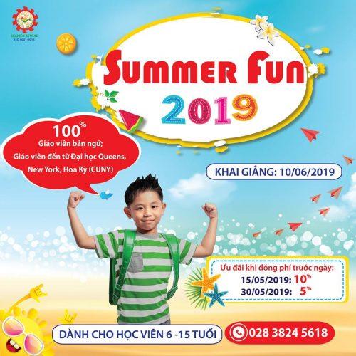 CHƯƠNG TRÌNH VUI HỌC HÈ – SUMMER FUN 2019